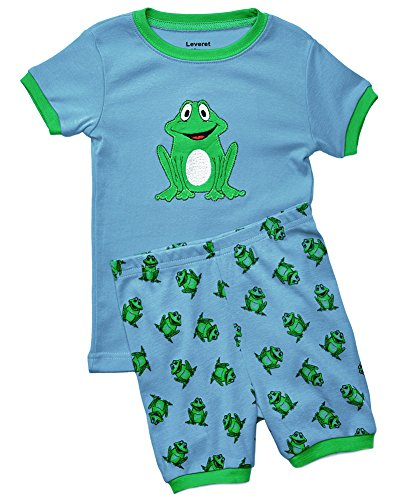 Leveret Shorts 2 Piece Pajama Frog 2 Year