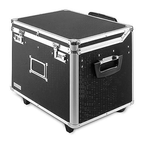35c610146 outlet Vaultz Locking Mobile Wheelie Chest, File Box Letter/Legal Size  Locked Document Storage
