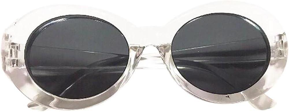 Transer Retro Vintage Clout Goggles Men /& Women Sunglasses Oval Shades Eye Glasses
