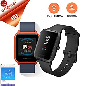 Original Xiaomi Huami Amazfit Smart Watch Bip Bit Face Youth GPS Fitness Tacker Heart Rate IP68 Professional Waterproof (Orange)