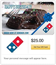 Dominos Pizza Birthday Email Gift Card