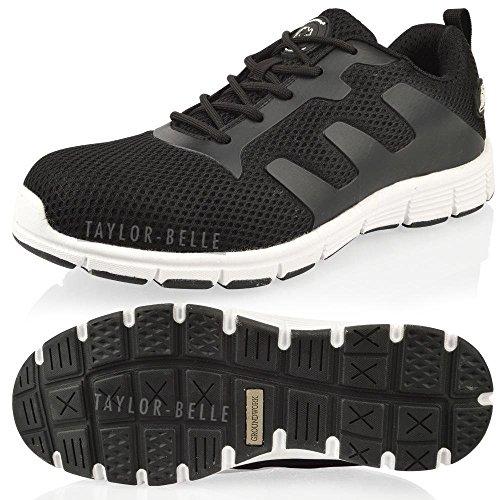 Taylor-Unikue - Zapatillas de sintético para hombre, negro - negro, 8 UK / 42 EU
