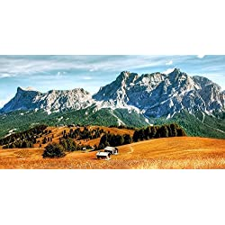 LAMINATED 47x24 Poster: Dolomites Pralongia Alm Mountains South Tyrol Italy Alpine Clouds Alm Alpine Panorama Rock Hut Panorama Hiking Holiday View Summer Landscape Nature Holidays Hike