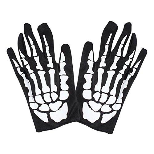 RoseSummer Mens Cycling Motorcycle Gloves Skull Bone Skeleton (Skelton Gloves)