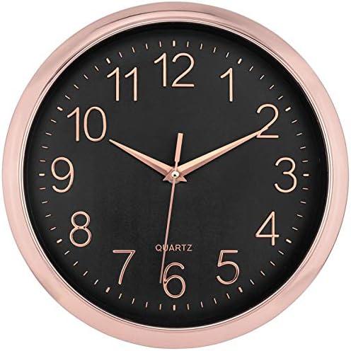 Foxtop Modern Wall Clock Silent Non-Ticking Battery Operated Clock