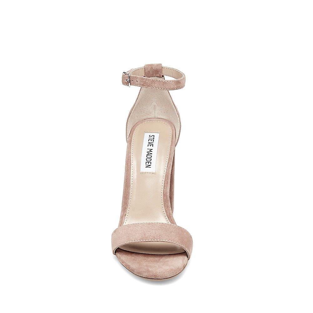 Steve Madden Women's Carrson Dress Sandal B07DFZQH4V 5 B(M) US Tan Suede