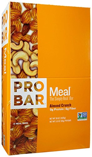 Probar Meal Bars - Almond Crunch - 3 oz - 12 ct