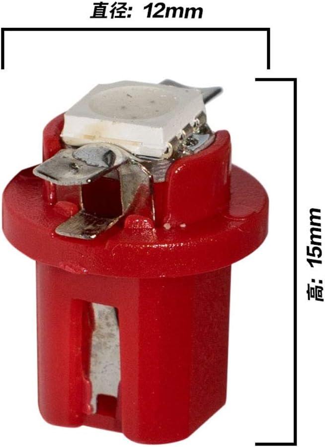 Turbobm 10 pcs T5 B8.5D 5050 LED 1 SMD Indicateur Tableau De Bord De Voiture C/ôt/é Int/érieur Ampoules 12 V Voiture Lumi/ère De Voiture Tableau De Bord Ampoules