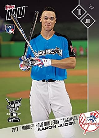 2017 Topps Now Baseball 346 Aaron Judge Rookie Card Wins 2017 Home Run Derby Only 8997 Made