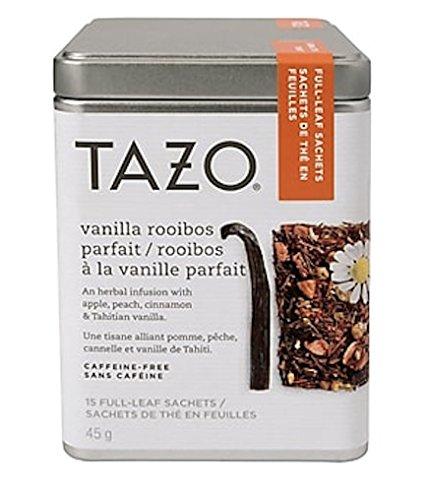 Tazo Vanilla Rooibos Full Leaf Tea, 15 Count Sachets