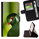 DEVIL CASE - FOR Sony Xperia m55w Z3 Compact Mini - Parrot Green Trees Tropical Bird Nature - Style PU Leather Case Wallet Flip Stand Flap Closure Cover