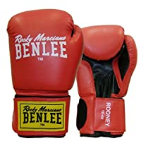 BENLEE Boxhandschuhe RODNEY PU Training Gloves - Red/Black Größe 14