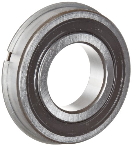 Groove Snap - SKF 6203 2RSNRJEM Light Series Deep Groove Ball Bearing, Deep Groove Design, ABEC 1 Precision, Double Sealed, Snap Ring, Contact, Steel Cage, C3 Clearance, 17mm Bore, 40mm OD, 12mm Width, 1070.0 pounds Static Load Capacity, 2150.00 pounds Dynamic Load Capacity