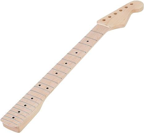 Madera de arce 22 trastes de guitarra eléctrica Cuello y diapasón ...