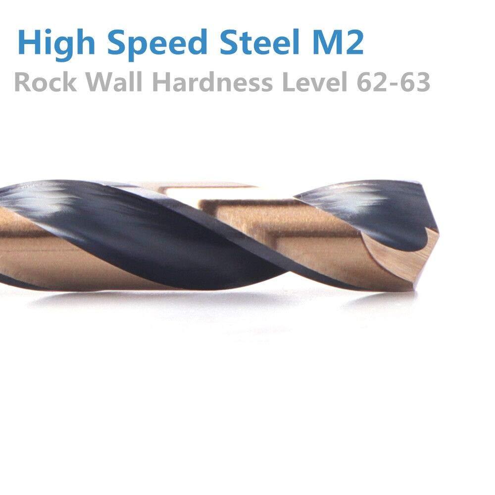 3 Flat Shank High Speel Steel 6 Pcs Drill Bits OXTUL 3//8 inch
