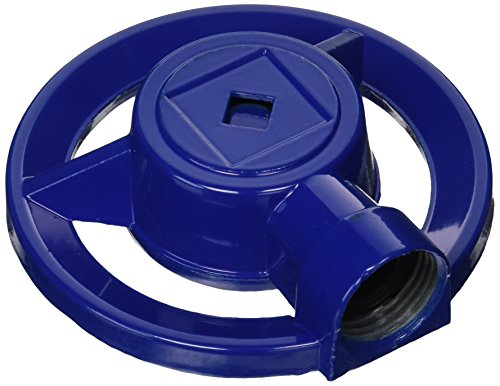 QVS 004090 Pop's Metal Square Pattern Sprinkler, Large, Blue