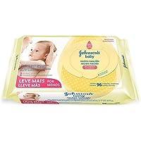Toalha Hipoalergênica Recém Nascido, Johnson's Baby, Branco, Pacote de 96 unidades