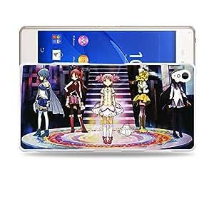 Case88 Designs Puella Magi Madoka Magica Madoka, Homura, Sayaka, Mami, Kyoko & Kyubey Protective Snap-on Hard Back Case Cover for Sony Xperia Z3