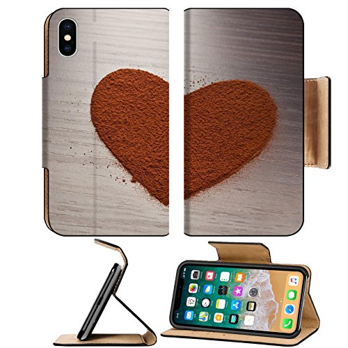 Liili Premium Apple iPhone X Flip Pu Leather Wallet Case Heart made from cocoa powder Photo 21524668 Simple Snap ()