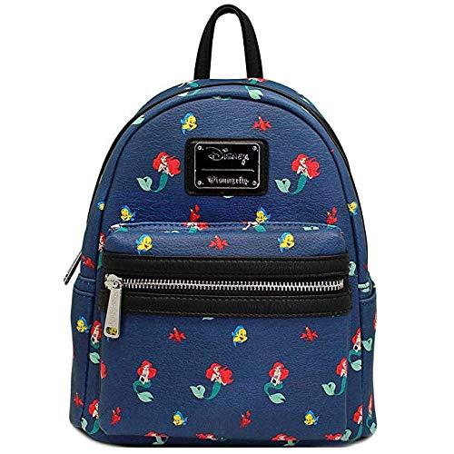 Loungefly x Disney Ariel Flounder Sebastian AOP Mini Backpack]()