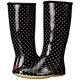 Chooka Women's Packable Rain Boot, Classic Dot Black, 6 M US