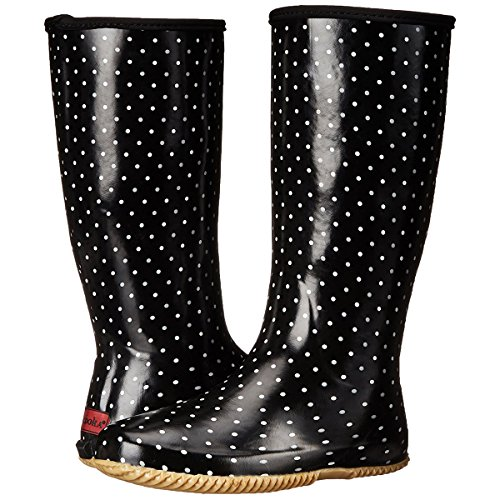 Chooka Women's Packable Rain Boot, Classic Dot Black, 8 M US