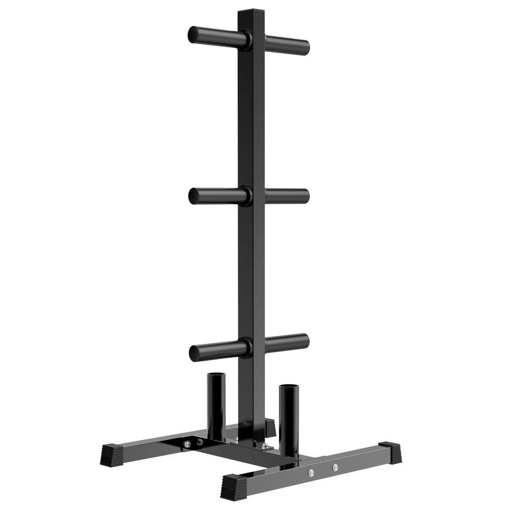 Yaheetech Olympic 2'' Weight Plate Rack Tree and Barbell Bar Holder Organizer Stand