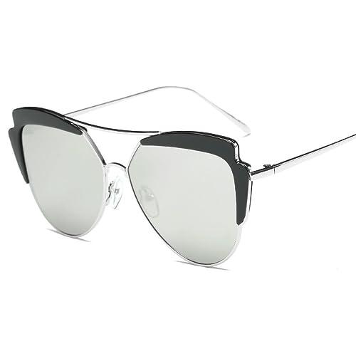 FAONL Gafas De Sol Ovales De Metal Con Estilo Señoras Gafas De Sol