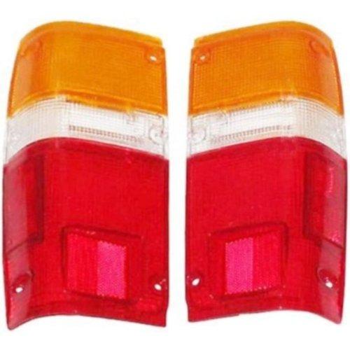1984-1988 Toyota Pickup Truck & 1984-1989 4-Runner 4Runner Taillight Taillamp Rear Brake Tail Light Lamp (LENS ONLY) Pair Set Left Driver AND Right Passenger Side (1984 84 1985 85 1986 86 1987 87 1988 88 1989 89)