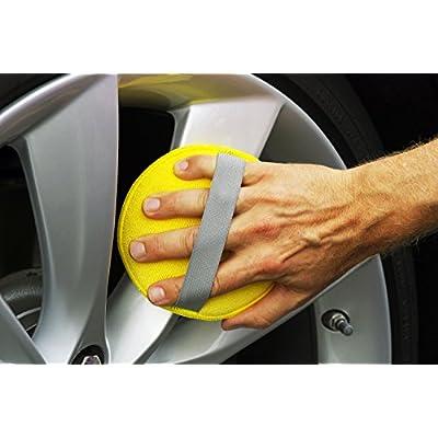 Glart 46PP Microfibre Hand polishing Sponge Set of 6, 130x25 mm, Wax applicator pad for waxes, Polishes, Paint Cleaner, car Polish, Instead of polishing Machine: Automotive