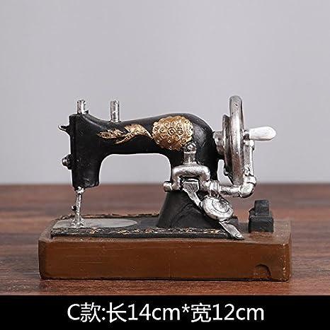 SQBJ Un único envío gratis Home Furnishing resina artesanía antigüedades trompeta antigua cámara fotográfica del ventilador props American Country, máquina ...