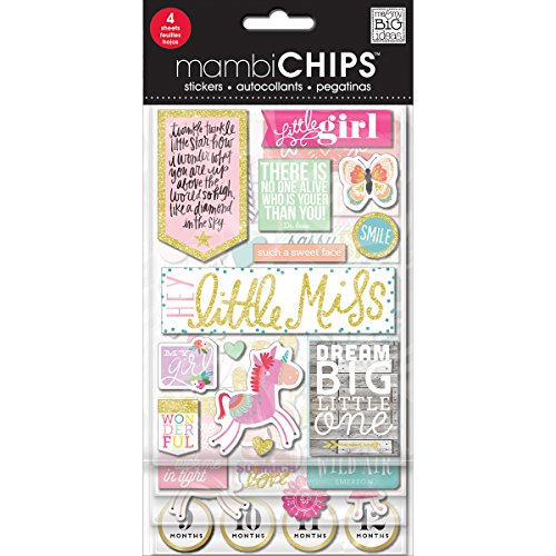 Me & My Big Ideas Little Girl Chipboard Value Pack Baby Chipboard