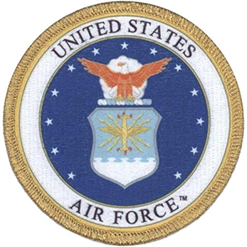 AIR FORCE EMBLEM, Officially Licensed, Iron-On / Sew-On, Embroidered PATCH - 3