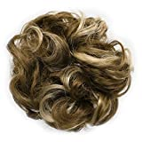 Onedor Ladies Synthetic Wavy Curly or Messy Dish Hair Bun Extension Hairpiece Scrunchie Chignon Tray Ponytail (12TT26)