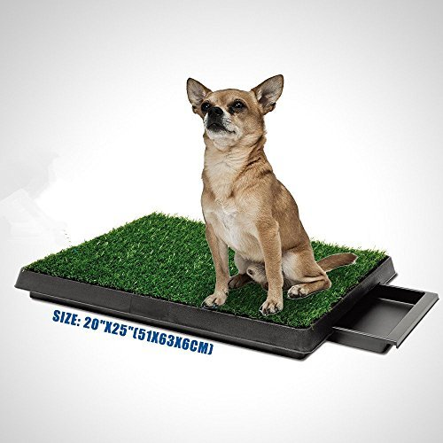 Puppy Potty Trainer Indoor Tinkle Turf for Pets, Medium Size by Generic