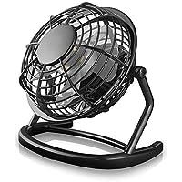 """Mini Ventilateur, TEENO Ventilateurs USB De Table Silencieux Ventilateur Portable 4"""" Mini Fan de Bureau Plastiques Fan Compatible PC, Ordinateur Portable - Noir"""