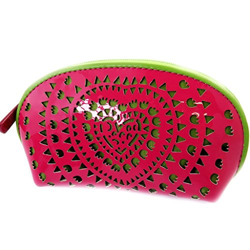 (Zip purse 'Agatha Ruiz De La Prada' green pink (varnish).)