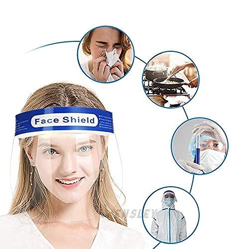 BICHI-Face-Shield-Anti-fog-Full-Safety-Face-Shield-Universal-Reusable-Face-Protective-Visor-for-Eye-Head-Protection-Anti-Spitting-Splash-Facial-Cover-for-Women-Men