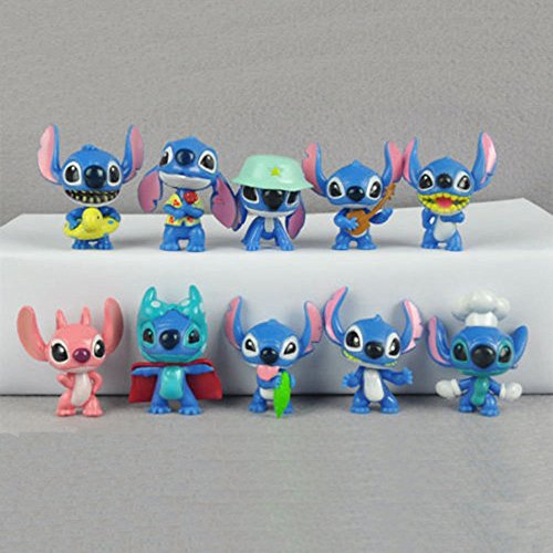 Lilo And Stitch Angel Family Girlfriend Cartoon 10 PCS Action Figure Gift Toy US
