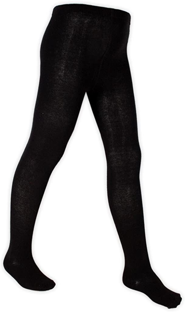 2 PAIRS GIRLS SCHOOL TIGHTS COTTON SOFT 8 SIZES 5 COLOURS
