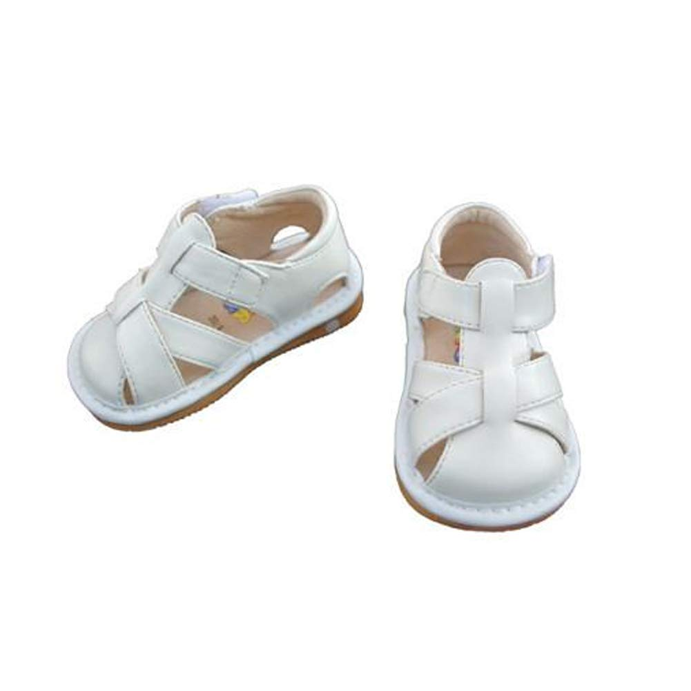 Squeaker Sneakers Closed Toe White Sandal