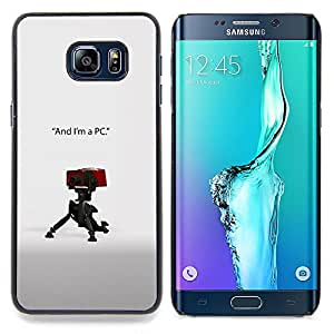 - I'm a PC/ Hard Snap On Cell Phone Case Cover - Cao - For Samsung Galaxy S6 Edge Plus
