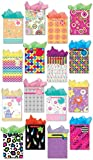 Gift Bags Set of 16 Medium Gift Bags w/ Glitter, Tags, Stars, Stripes and Spots Design, and Tissue Paper for Kids, Girls, Boys, Women, and Men