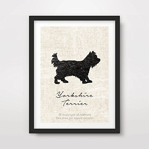 YORKSHIRE TERRIER YORKIE DOG ART PRINT POSTER Breed Silhouette Home Decor Wall Picture A4 A3 A2 (10 Sizes)