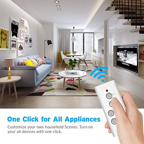 Etekcity Remote Control Outlet Wireless Light Switch for Household Appliances, Plug and Go, Up to 100 ft. Range, FCC ETL Listed, White (Learning code, 3Rx-1Tx) by Etekcity (Image #2)
