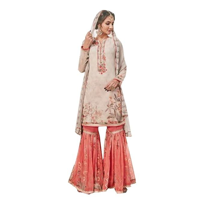 Amazon.com: Eid Gharara trajes colección para boda Salwar ...