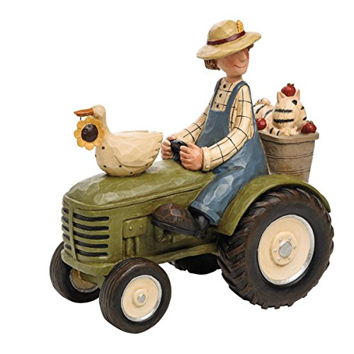 Foreside FFGD04783 Williraye Studios Farmer on Tractor Décor