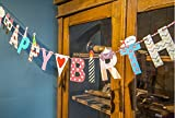 Double Party Bunting Banner Vintage Style Chic Floral Triangle Garlands for Wedding Party Birthday Ceremonies Home Decoration