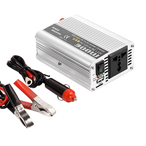 (300W Car Power Inverter DC 12V To AC 110V Car Power Converter Adapter with USB)
