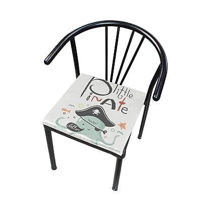 Bardic FICOO Home Patio Chair Cushion Pirate Animal Octopus Square Cushion Non-Slip Memory Foam Outdoor Seat Cushion, 16x16 Inch: Home & Kitchen